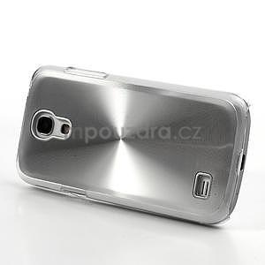 Metalický obal na Samsung Galaxy S4 mini - stříbrný - 3