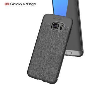 Litch odolný gélový obal s textúrou na Samsung Galaxy S7 Edge - červený - 3