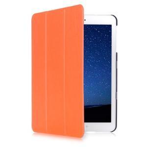 Trifold polohovateľné púzdro pre Samsung Galaxy Tab S2 9.7 -  oranžové - 3