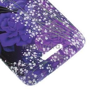Gelový obal na Sony Xperia E4 - fialové květy - 3