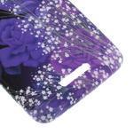 Gelový obal na Sony Xperia E4 - fialové květy - 3/5