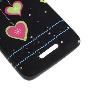 Gelový obal na Sony Xperia E4 - srdce - 3