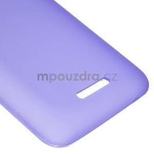 Gelový jednobarevný obal pro Sony Xperia E4 - fialový - 3