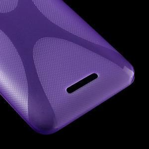 Gelový x-line obal na Sony Xperia E4 - fialový - 3