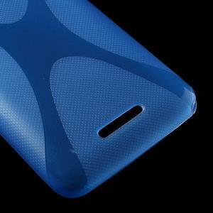 Gélový x-line obal pre Sony Xperia E4 - modrý - 3