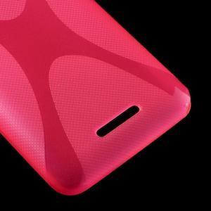 Gelový x-line obal na Sony Xperia E4 - rose - 3