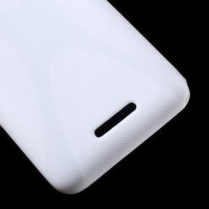 Gélový x-line obal pre Sony Xperia E4 - biely - 3