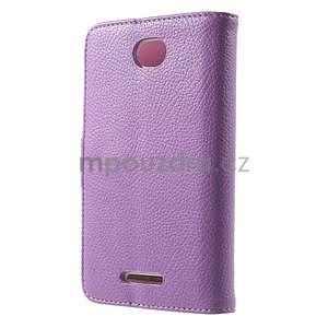 Koženkové puzdro pre Sony Xperia E4 - fialové - 3