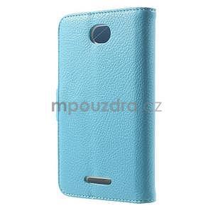 Koženkové pouzdro pro Sony Xperia E4 - světle modré - 3