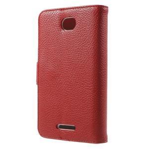 Koženkové pouzdro pro Sony Xperia E4 - červené - 3