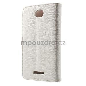 Koženkové pouzdro pro Sony Xperia E4 - bílé - 3