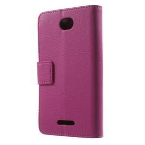 PU kožené Peňaženkové puzdro pre Sony Xperia E4 - rose - 3
