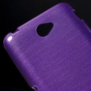 Brúsený gélový obal pre Sony Xperia E4 - fialový - 3
