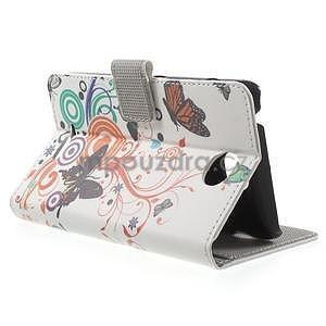 Peňaženkové puzdro pre Sony Xperia E4 - farební motýľe - 3