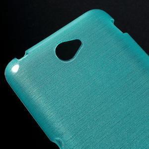 Brúsený gélový obal pre Sony Xperia E4 - tyrkysový - 3