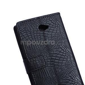 Puzdro s krokodílím vzoromna Sony Xperia E4 - čierne - 3