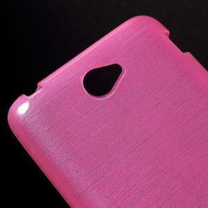 Brúsený gélový obal pre Sony Xperia E4 - rose - 3