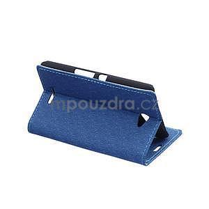 Vzorované pěněženkové pouzdro na Sony Xperia E4 - modré - 3