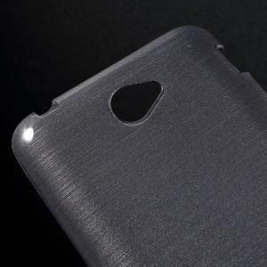 Broušený gelový obal pro Sony Xperia E4 - transparentní - 3