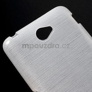 Brúsený gélový obal pre Sony Xperia E4 - biely - 3