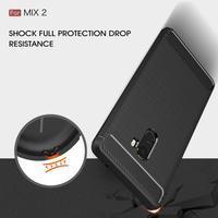 Carbon odolný gelový obal na Xiaomi Mi Mix 2 - červený - 3/3