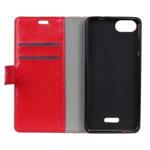 Horse PU kožené peňaženkové puzdro na mobil Xiaomi Redmi 6A - červené - 3