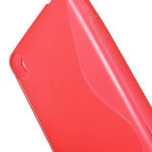S-line gélový obal pre mobil Sony Xperia E5 - červený - 3
