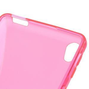 S-line gélový obal na mobil Sony Xperia E5 - rose - 3