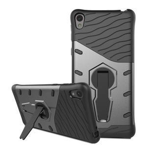 Armory odolný obal se stojánkem na Sony Xperia E5 - černý - 3