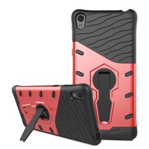 Armory odolný obal so stojanom na Sony Xperia E5 - červený - 3