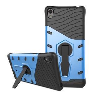 Armory odolný obal so stojanom na Sony Xperia E5 - modrý - 3
