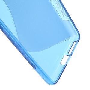 S-line gélový obal pre mobil Sony Xperia E5 - modrý - 3