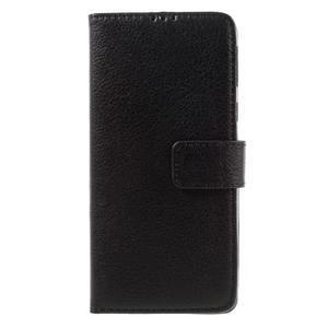 Leathy PU kožené puzdro na Sony Xperia E5 - čierne - 3