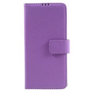 Leathy PU kožené puzdro pre Sony Xperia E5 - fialové - 3