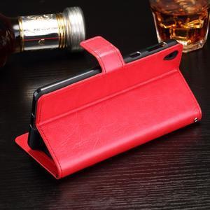 Horss PU kožené puzdro na Sony Xperia E5 - červené - 3