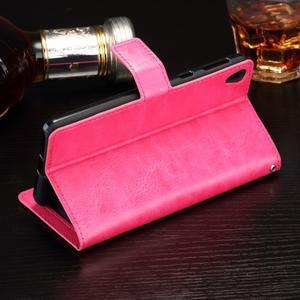 Horss PU kožené puzdro na Sony Xperia E5 - rose - 3