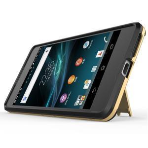 Outdoor odolný obal pre mobil Sony Xperia E5 - zlatý - 3