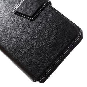 Horn PU kožené puzdro na Xiaomi Redmi 3 Pro - čierne - 3