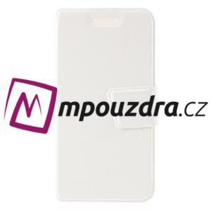 Horn PU kožené puzdro na Xiaomi Redmi 3 Pro - bílé - 3