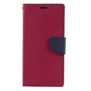Diary PU kožené puzdro pre mobil Sony Xperia XA Ultra - rose - 3