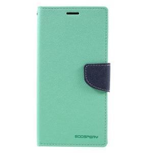 Diary PU kožené puzdro pre mobil Sony Xperia XA Ultra - azurové - 3