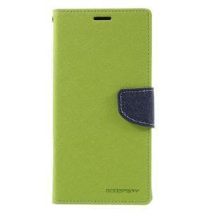 Diary PU kožené puzdro pre mobil Sony Xperia XA Ultra - zelené - 3