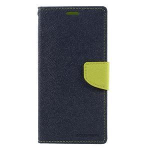 Diary PU kožené puzdro pre mobil Sony Xperia XA Ultra - tmavomodré - 3