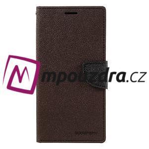 Diary PU kožené puzdro pre mobil Sony Xperia XA Ultra - hnedé - 3