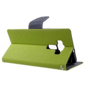 Diary PU kožené puzdro pre mobil Asus Zenfone 3 Deluxe - zelené - 3