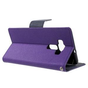 Diary PU kožené puzdro pre mobil Asus Zenfone 3 Deluxe - fialové - 3