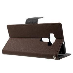 Diary PU kožené puzdro pre mobil Asus Zenfone 3 Deluxe - hnedé - 3