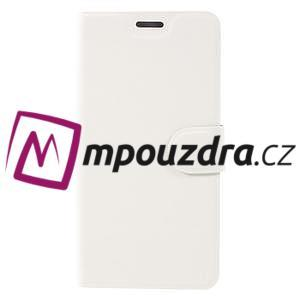Horse PU kožené puzdro pre Asus Zenfone 3 Deluxe - biele - 3