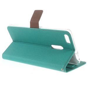 Diary peňaženkové pouzdro na mobil Asus Zenfone 3 Ultra - cyan - 3