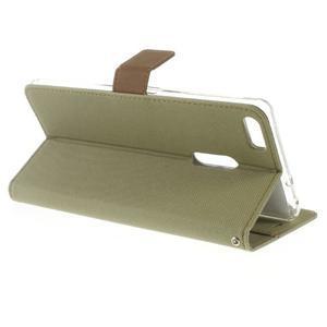 Diary peňaženkové puzdro pre mobil Asus Zenfone 3 Ultra - khaki - 3